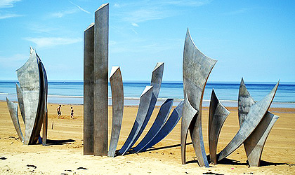 Monument at Omaha's beach in Normandy