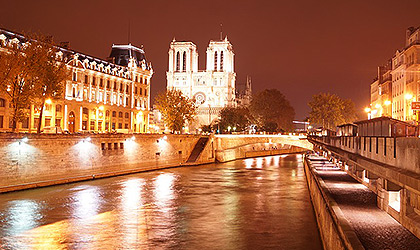 A breathtaking view of the City of Light at night